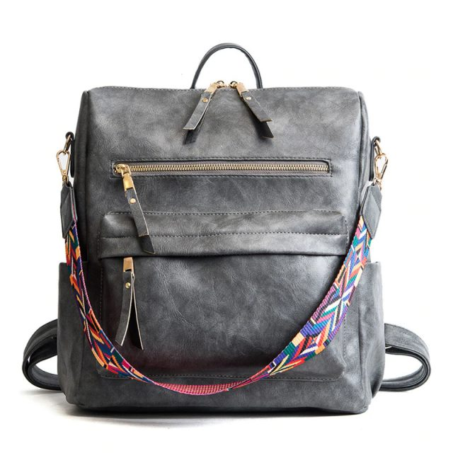 Colored Strap Backpack for Women