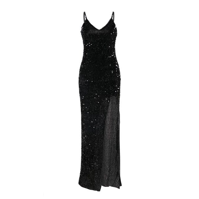 Sleeveless Split Evening Dress